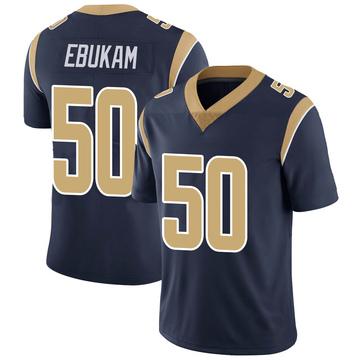 Youth Nike Los Angeles Rams Samson Ebukam Navy Team Color Vapor Untouchable Jersey - Limited
