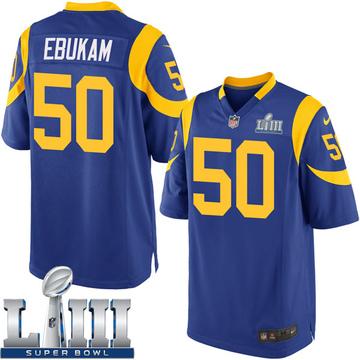 Youth Nike Los Angeles Rams Samson Ebukam Royal Alternate Super Bowl LIII Bound Jersey - Game