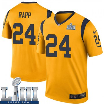 Youth Nike Los Angeles Rams Taylor Rapp Gold Color Rush Super Bowl LIII Bound Jersey - Legend