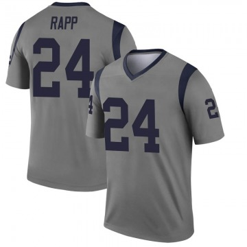 Youth Nike Los Angeles Rams Taylor Rapp Gray Inverted Jersey - Legend