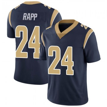 Youth Nike Los Angeles Rams Taylor Rapp Navy Team Color Vapor Untouchable Jersey - Limited