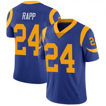 Youth Nike Los Angeles Rams Taylor Rapp Royal 100th Vapor Jersey - Limited