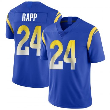 Youth Nike Los Angeles Rams Taylor Rapp Royal Alternate Vapor Untouchable Jersey - Limited