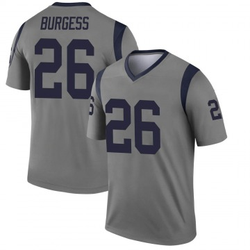 Youth Nike Los Angeles Rams Terrell Burgess Gray Inverted Jersey - Legend