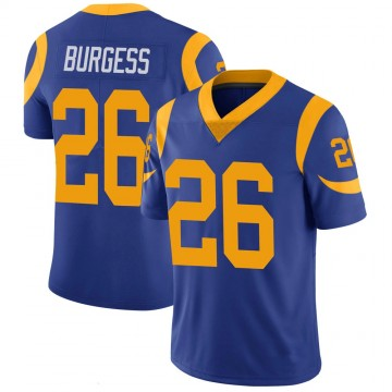 Youth Nike Los Angeles Rams Terrell Burgess Royal 100th Vapor Jersey - Limited