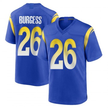 Youth Nike Los Angeles Rams Terrell Burgess Royal Alternate Jersey - Game