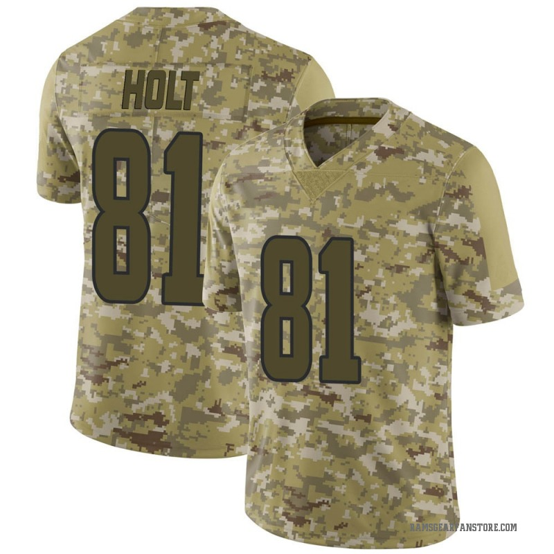 best sneakers f51d5 a97b7 Youth Nike Los Angeles Rams Torry Holt Camo 2018 Salute to Service Jersey -  Limited