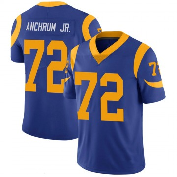 Youth Nike Los Angeles Rams Tremayne Anchrum Royal 100th Vapor Jersey - Limited