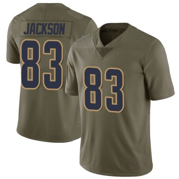 Youth Nike Los Angeles Rams Trishton Jackson Green 2017 Salute to Service Jersey - Limited