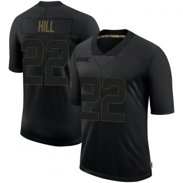 Youth Nike Los Angeles Rams Troy Hill Black 2020 Salute To Service Jersey - Limited