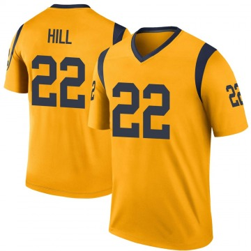 Youth Nike Los Angeles Rams Troy Hill Gold Color Rush Jersey - Legend