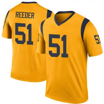 Youth Nike Los Angeles Rams Troy Reeder Gold Color Rush Jersey - Legend