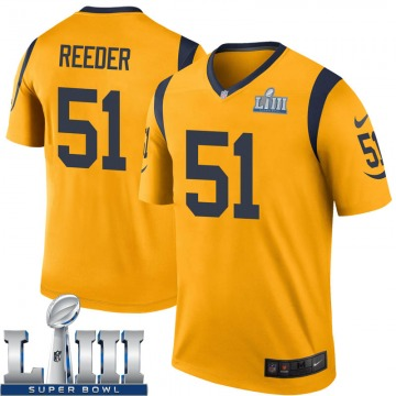 Youth Nike Los Angeles Rams Troy Reeder Gold Color Rush Super Bowl LIII Bound Jersey - Legend