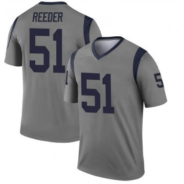 Youth Nike Los Angeles Rams Troy Reeder Gray Inverted Jersey - Legend