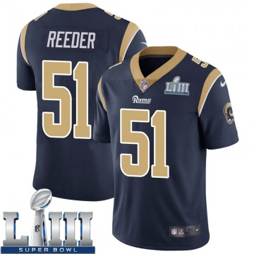 Youth Nike Los Angeles Rams Troy Reeder Navy Team Color Super Bowl LIII Bound Vapor Untouchable Jersey - Limited