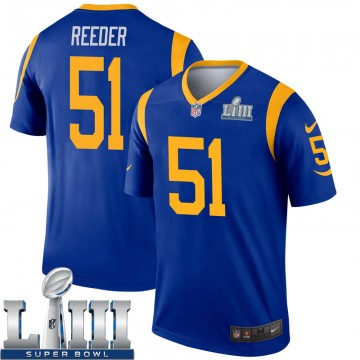 Youth Nike Los Angeles Rams Troy Reeder Royal Super Bowl LIII Bound Jersey - Legend