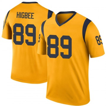 Youth Nike Los Angeles Rams Tyler Higbee Gold Color Rush Jersey - Legend