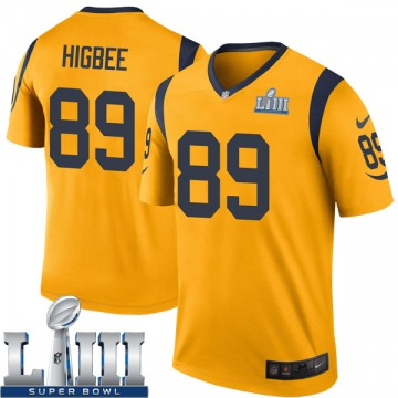 Youth Nike Los Angeles Rams Tyler Higbee Gold Color Rush Super Bowl LIII Bound Jersey - Legend