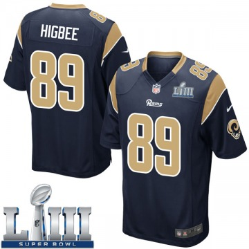 Youth Nike Los Angeles Rams Tyler Higbee Navy Team Color Super Bowl LIII Bound Jersey - Game