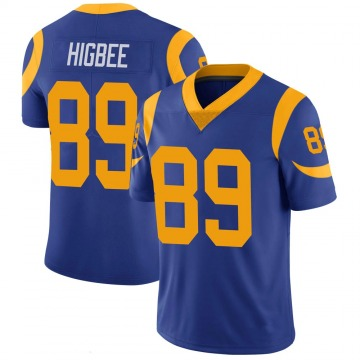Youth Nike Los Angeles Rams Tyler Higbee Royal 100th Vapor Jersey - Limited