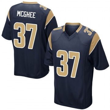 Youth Nike Los Angeles Rams Tyrique McGhee Navy Team Color Jersey - Game