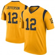 Youth Nike Los Angeles Rams Van Jefferson Gold Color Rush Jersey - Legend
