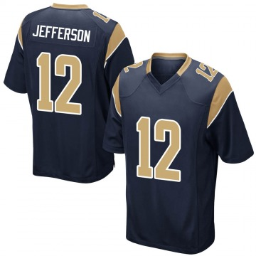 Youth Nike Los Angeles Rams Van Jefferson Navy Team Color Jersey - Game