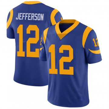 Youth Nike Los Angeles Rams Van Jefferson Royal 100th Vapor Jersey - Limited