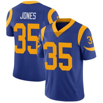 Youth Nike Los Angeles Rams Xavier Jones Royal 100th Vapor Jersey - Limited
